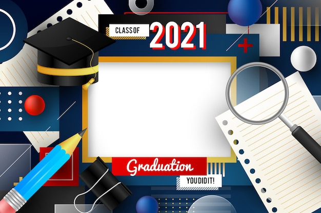 Gradient class of 2021 frame template