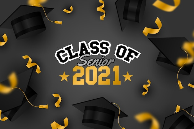Gradient class of 2021 illustration