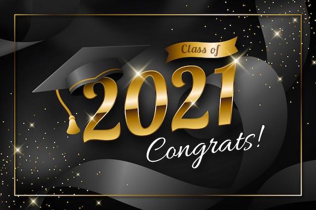 Gradient class of 2021 illustration