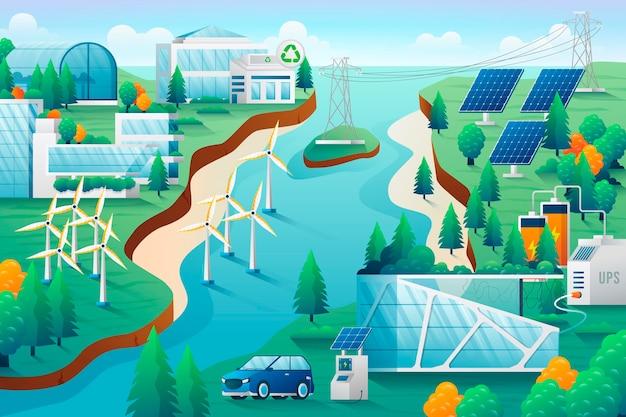 Иллюстрация концепции градиентного изменения климата