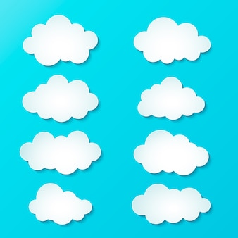 Collezione di nuvole sfumate