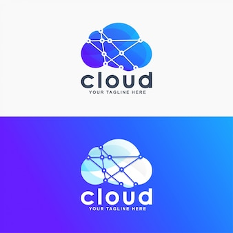 Gradient cloud logo