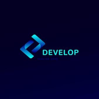 Слоган логотипа градиентного кода здесь