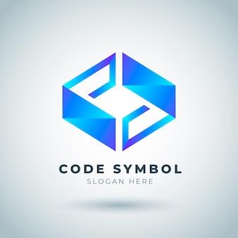 Modello di logo del codice sfumato