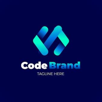 Gradient code logo template