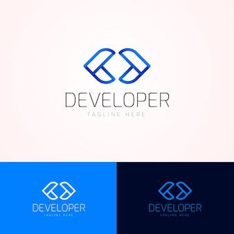 Логотип градиентного кода с слоганом