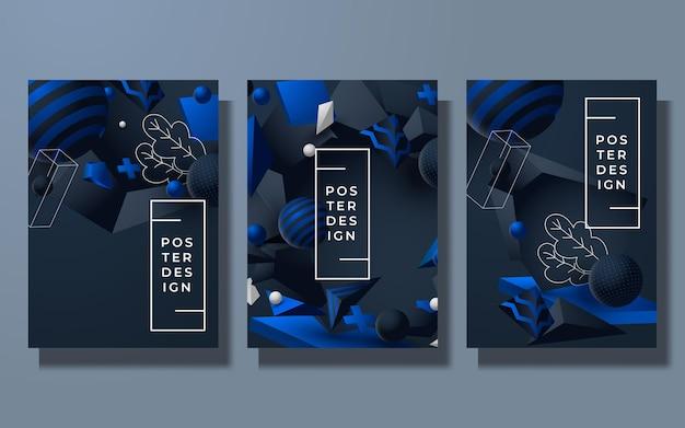 グラデーションカラー抽象的な背景カバーデザイン