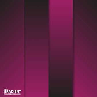 Gradient color collection pack template