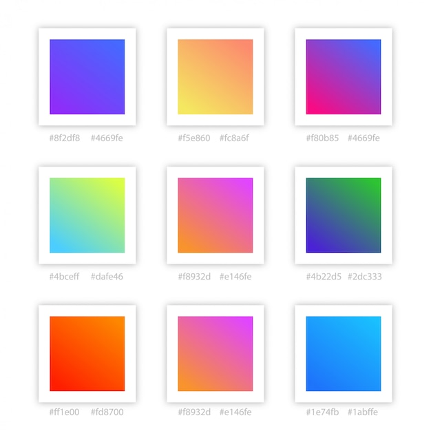 Gradient color collection