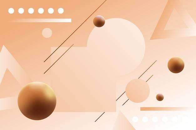 기하학적 모양이 있는 그라데이션 컬러 배경