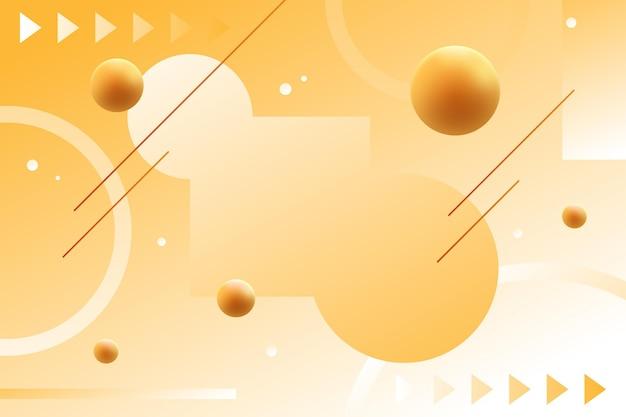 Цветной градиентный фон с геометрическими фигурами