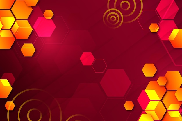 Gradient colored background with geometrical shapes