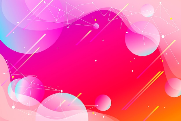 幾何学的な形のグラデーション色の背景