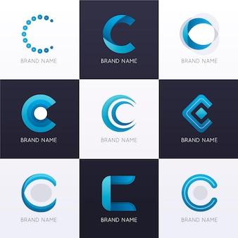 Коллекция градиентных цветных логотипов