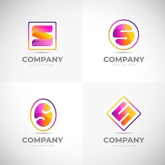 Набор логотипов с градиентным дизайном