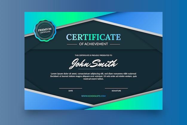 Gradient colored elegant certificate