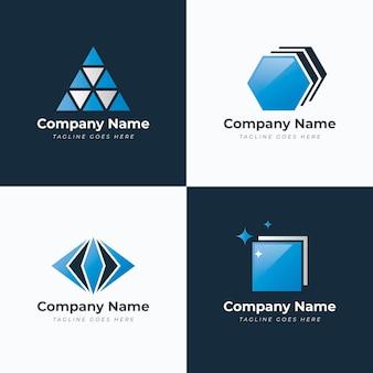 Modello di logo in vetro colorato sfumato