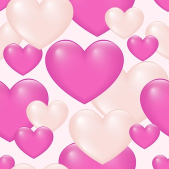 Gradient colored heart seamless pattern  background.