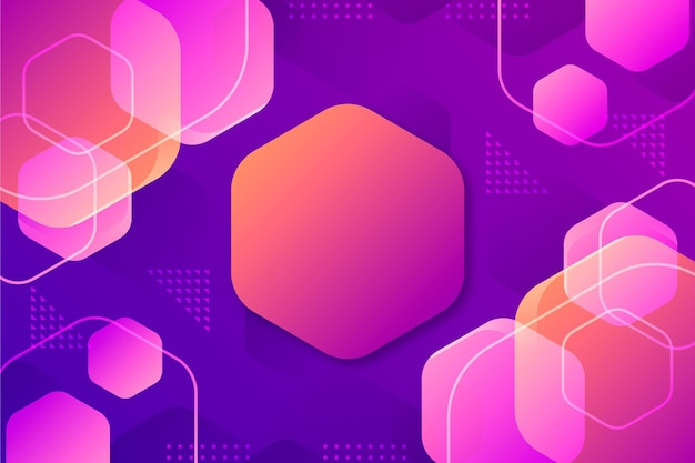 Gradient colored hexagonal background