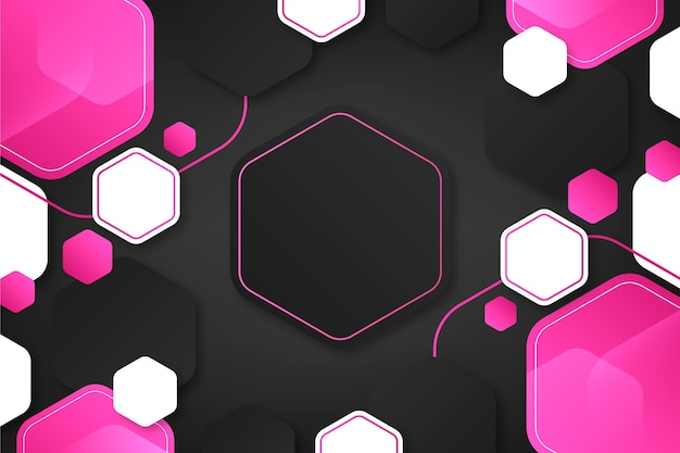 Gradient colored hexagonal background