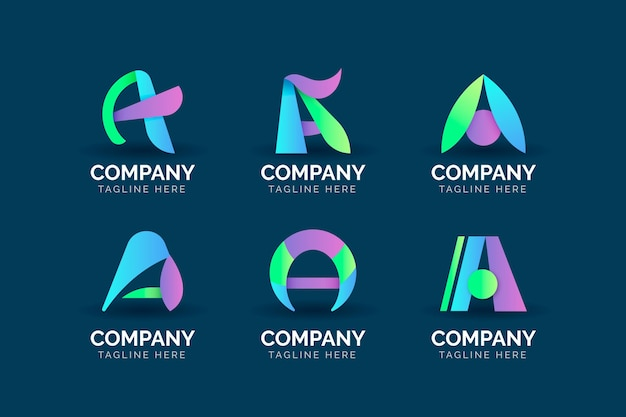 Gradient colored a logo templates