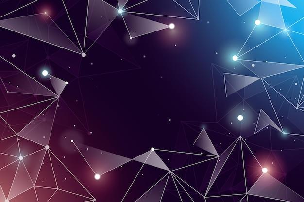 グラデーションの色付きネットワーク接続の背景