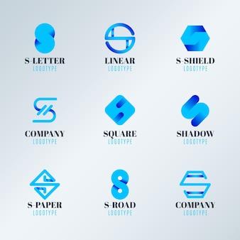 그라데이션 컬러의 로고 컬렉션
