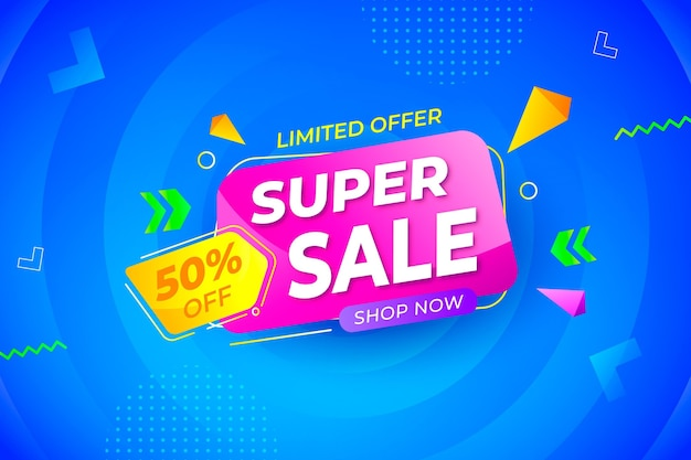 Gradient colored sale background