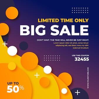 Gradient colorful big sale background