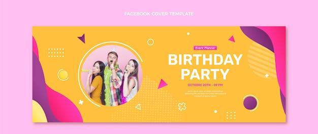 그라데이션 화려한 생일 페이스북 커버