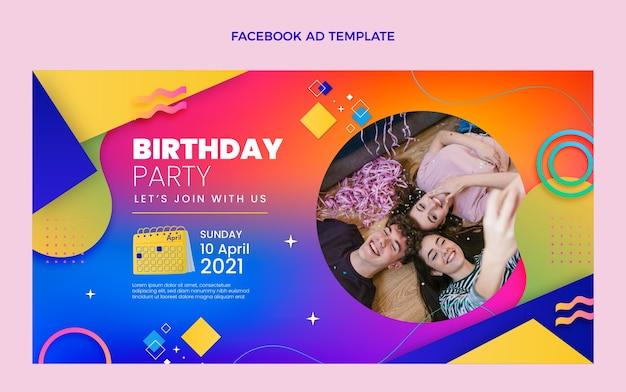 Gradient colorful birthday facebook