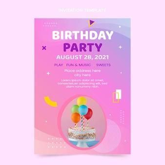 Invito di compleanno colorato sfumato