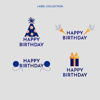 그라데이션 다채로운 생일 레이블