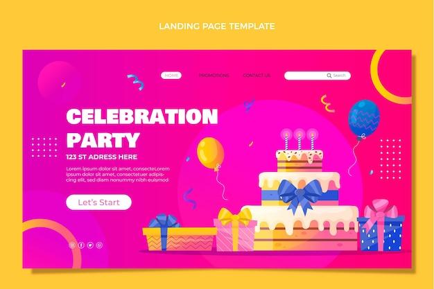 그라데이션 다채로운 생일 방문 페이지