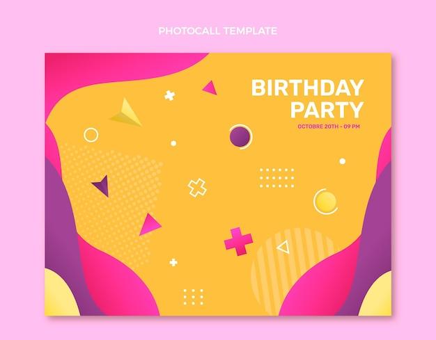Photocall di compleanno colorato sfumato