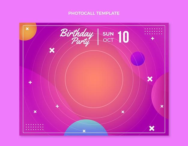 グラデーションのカラフルな誕生日のフォトコール