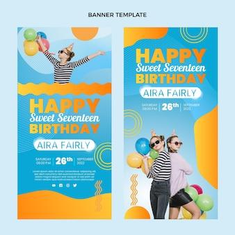 Градиент красочные день рождения вертикальные баннеры
