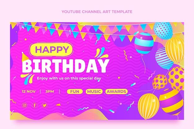 Градиент красочный день рождения youtube channel art