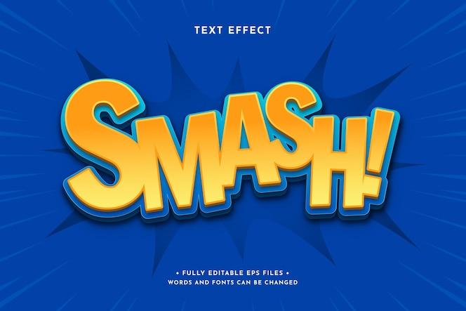Gradient colorful comic text effect