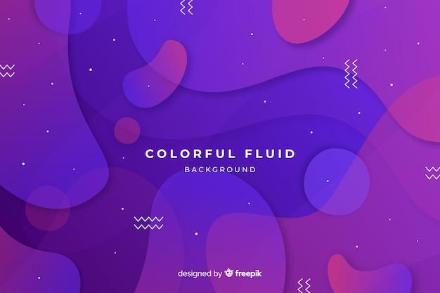 Gradient colorful fluid shapes background