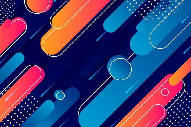 그라디언트 다채로운 기하학적 배경