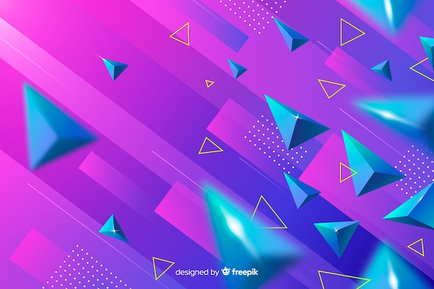 Gradient colorful geometric shapes background