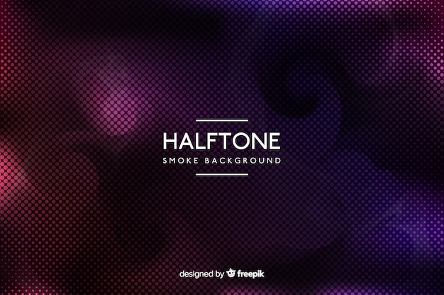 Gradient colorful halftone smoke background