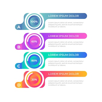 Gradient colorful infographic template
