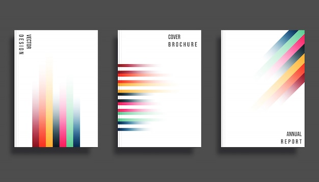 Gradient colorful lines background template