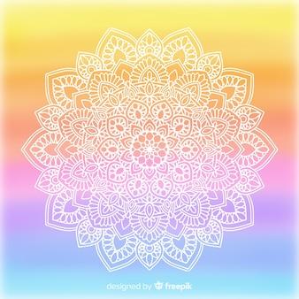 Gradient colorful mandala background
