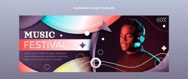 그라디언트 다채로운 음악 축제 페이스 북 커버