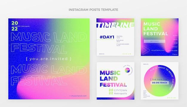 Градиент красочный музыкальный фестиваль ig post