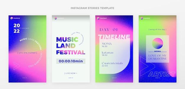 Festival musicale colorato sfumato ig storie