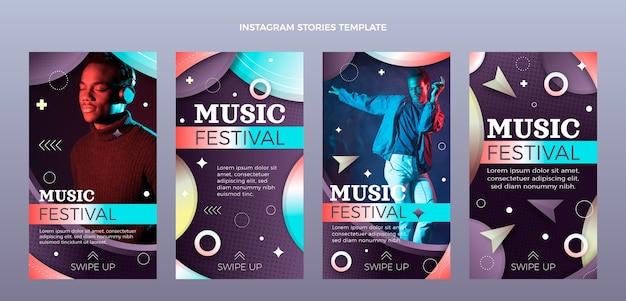 Gradient colorful music festival instagram stories